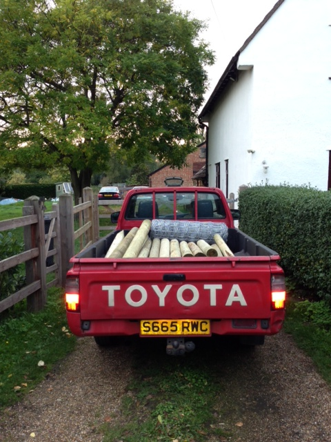 Fully loaded with the necessary equipment for stock fencing